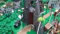 Park Jurajski zbudowany z klocków LEGO