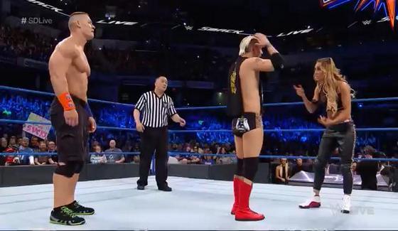 WWE SmackDown: Dean Ambrose, Kane i James Ellsworth vs  The
