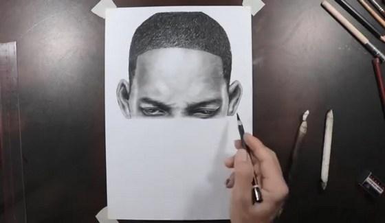 artysta rysuje penisa